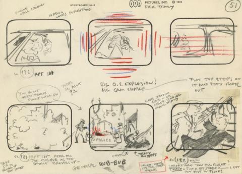 Mr. Magoo's Dick Tracy and the Mob Storyboard Drawing - ID: augmagoo21120 UPA