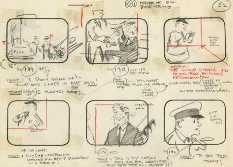 Mr. Magoo's Dick Tracy and the Mob Storyboard Drawing - ID: augmagoo21121 UPA