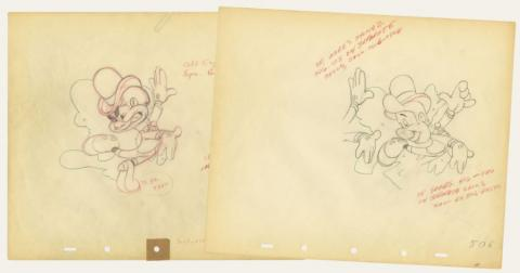 Set of (2) Nifty Nineties Production Drawings - ID: augnifty21164 Walt Disney