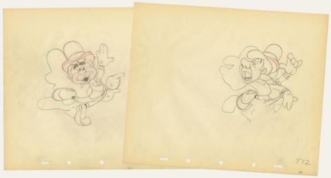 Set of (2) Nifty Nineties Production Drawings - ID: augnifty21166 Walt Disney
