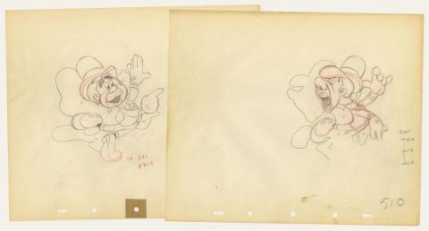Set of (2) Nifty Nineties Production Drawings - ID: augnifty21168 Walt Disney