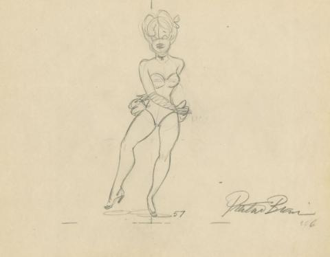 Swing Shift Cinderella Red Hot Production Drawing - ID: augredhot21112 MGM
