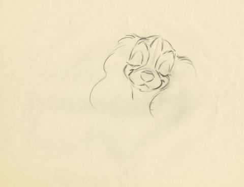 Lady and the Tramp Production Drawing - ID: augtramp21090 Walt Disney
