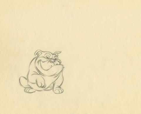 Lady and the Tramp Production Drawing - ID: augtramp21097 Walt Disney