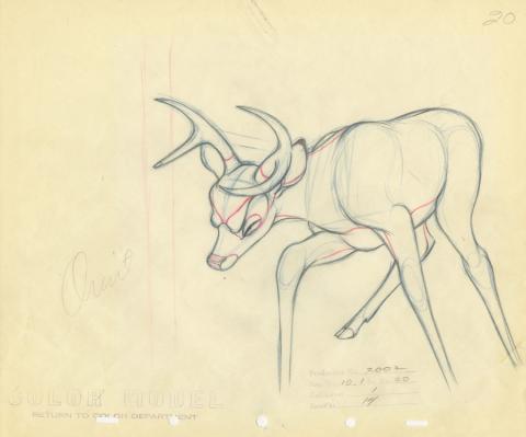Bambi Production Drawing - ID: decbambi20019 Walt Disney