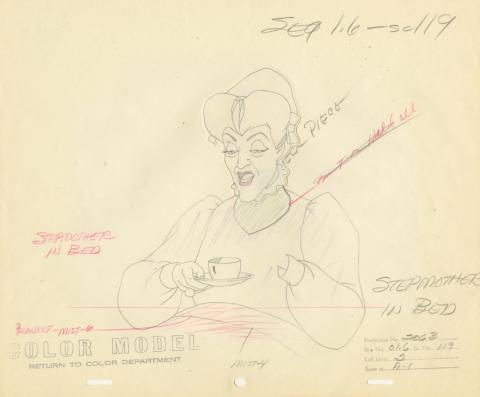 Cinderella Production Drawing - ID: deccinderella20016 Walt Disney