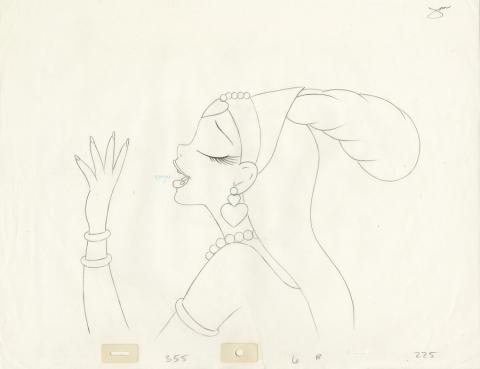 The Thief and the Cobbler Production Drawing - ID: deccobbler20065 Richard Williams