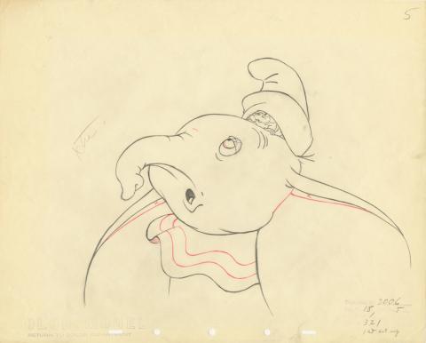 Dumbo Production Drawing - ID: decdumbo20036 Walt Disney