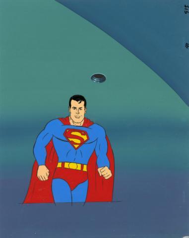 Super Friends Production Cel & Background - ID: decsuperman20239 Hanna Barbera