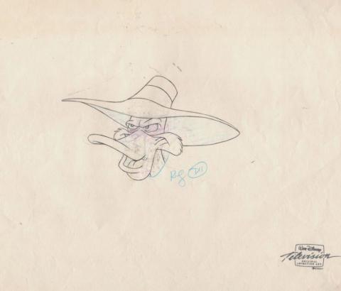 Darkwing Duck Production Drawing - ID: febdarkwing21576 Walt Disney