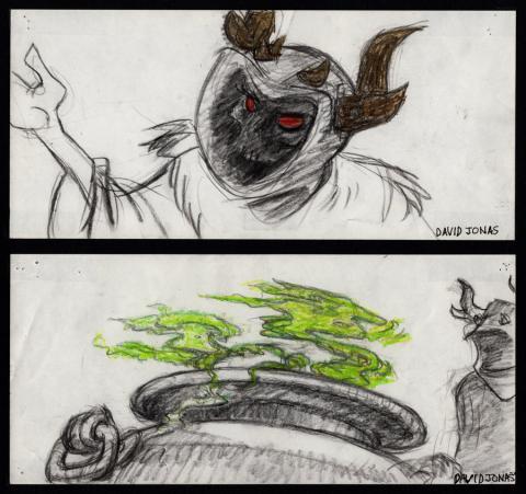 Black Cauldron Storyboard Drawings - ID: jancauldron21003 Walt Disney