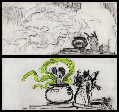 Black Cauldron Storyboard Drawings - ID: jancauldron21005 Walt Disney