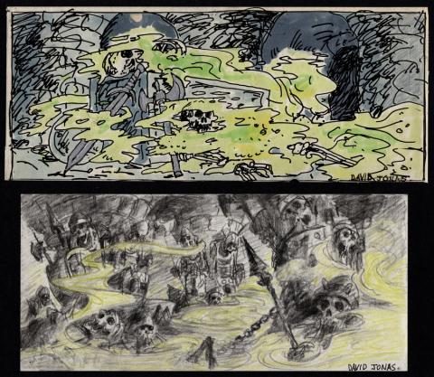 Black Cauldron Storyboard Drawings - ID: jancauldron21006 Walt Disney