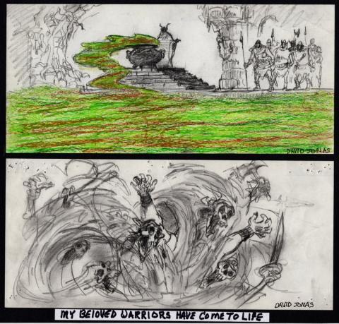 Black Cauldron Storyboard Drawings - ID: jancauldron21007 Walt Disney