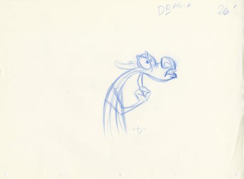 Mulan Production Drawing - ID: janmulan21104 Walt Disney