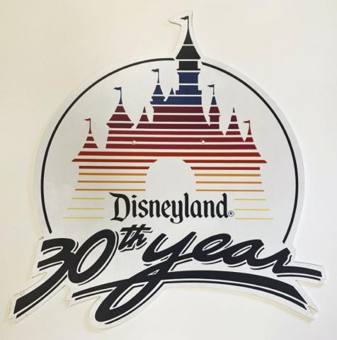 Disneyland 30th Year Lamppost Sign - ID: juldisneyana21080 Disneyana