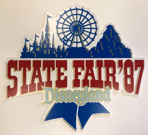 State Fair '87 Disneyland Lamppost Sign - ID: juldisneyana21082 Disneyana