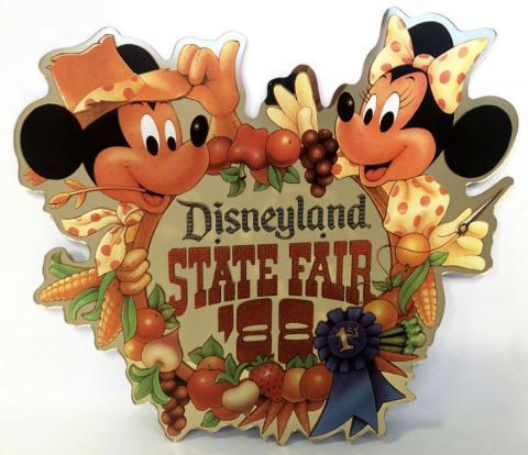 Disneyland State Fair '88 Lamppost Sign - ID: juldisneyana21085 Disneyana