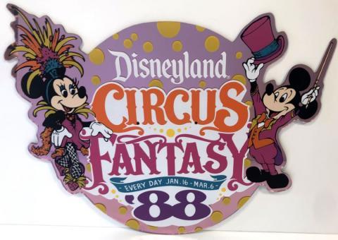 Circus Fantasy '88 Lamppost Sign - ID: juldisneyana21097 Disneyana