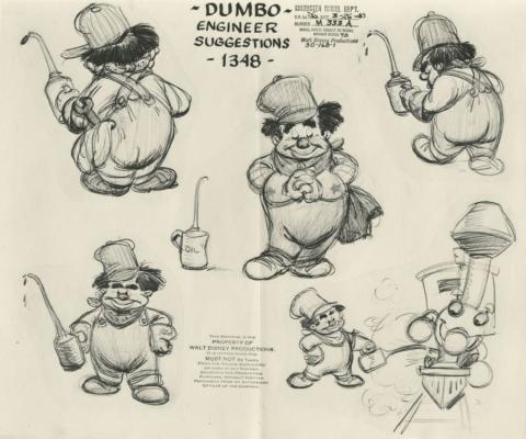Dumbo Photostat Model Sheet - ID: juldumbo21271 Walt Disney