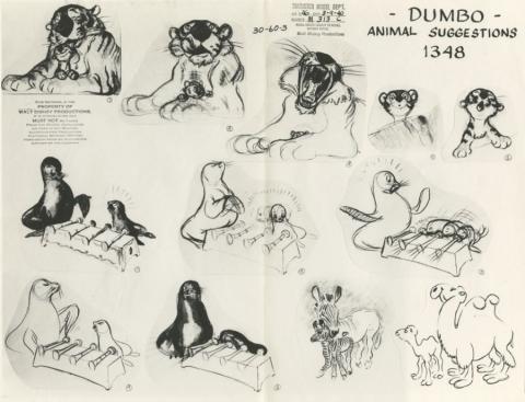 Dumbo Photostat Model Sheet - ID: juldumbo21274 Walt Disney