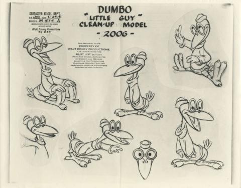 Dumbo Photostat Model Sheet - ID: juldumbo21276 Walt Disney