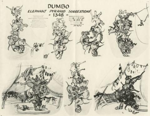 Dumbo Photostat Model Sheet - ID: juldumbo21278 Walt Disney