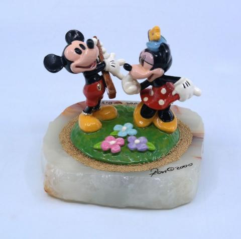 Mickey and Minnie Ron Lee Figurine - ID: julydisneyana21016 Disneyana