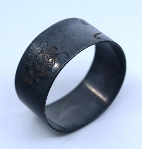 1930s Mickey Mouse Metal Napkin Ring - ID: julydisneyana21020 Disneyana