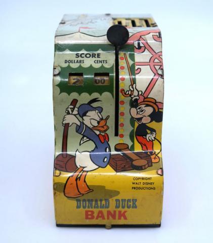 1950s Donald Duck Tin Litho Cash Register Toy - ID: julydisneyana21042 Disneyana