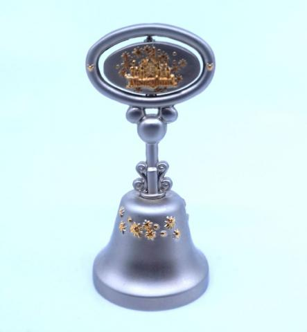 Disneyland Two-Tone Souvenir Pewter Bell - ID: julydisneyana21047 Disneyana