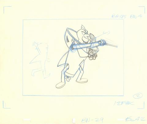 The Impossibles Layout Drawing - ID: julyimpossibles20101 Hanna Barbera