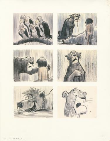 Jungle Book Lithographic Print  - ID: julyjunglebook20225 Walt Disney