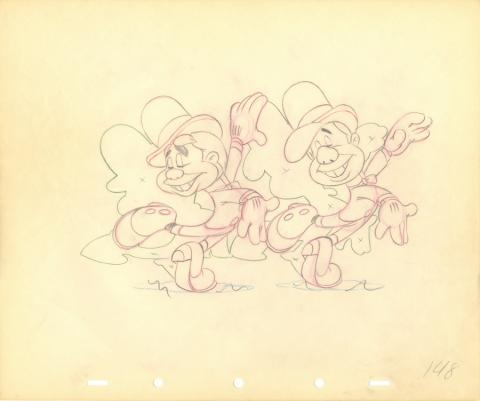 Nifty Nineties Production Drawing  - ID: julynifty20137 Walt Disney