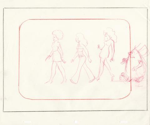 Captain Caveman Layout Drawing  - ID: juncaveman20151 Hanna Barbera