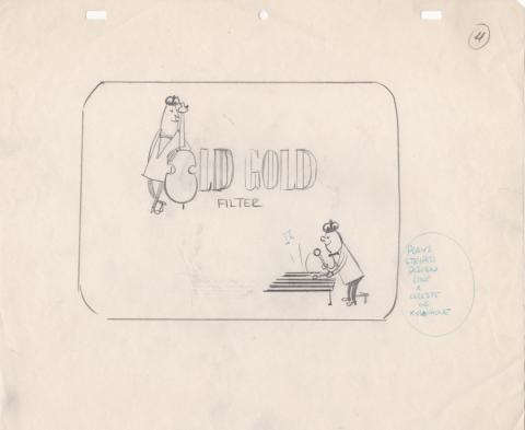 Old Gold Cigarettes Commercial Production Drawing  - ID: juncommercial20146 Commercial