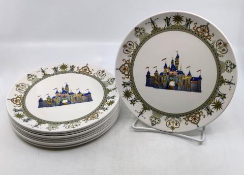 Disneyland 50th Anniversary Dessert Plate Set - ID: jundisneyana20058 Disneyana