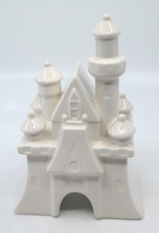 Fantasyland Castle White Ceramic Figurine - ID: jundisneyana20194 Disneyana