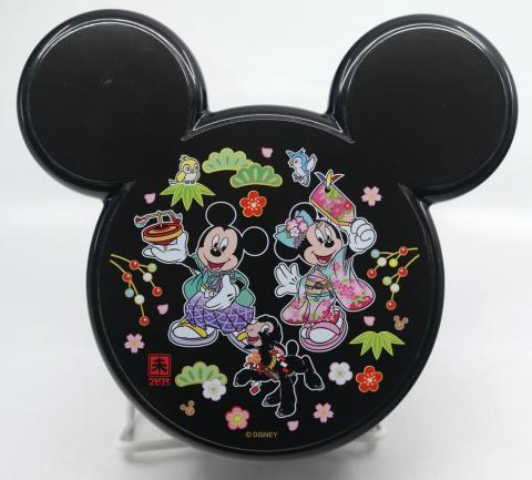Mickey Tokyo Disneyland Black Bento Box Container - ID: jundisneyana20259 Disneyana