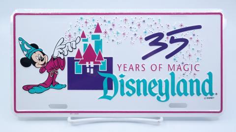 35 Years of Magic Disneyland License Plate - ID: jundisneyana21305 Disneyana