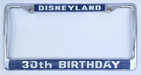 Disneyland 30th Birthday License Plate Holder - ID: jundisneyana21306 Disneyana
