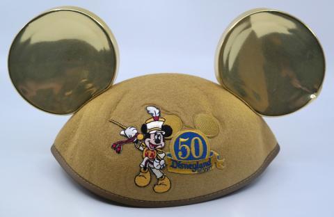 "50 Year Anniversary Mickey Mouse ""Ginger"" Ears - ID: jundisneyana21308 Disneyana"