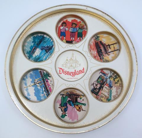 Disneyland Souvenir Metal Drink Tray - ID: jundisneyana21314 Disneyana