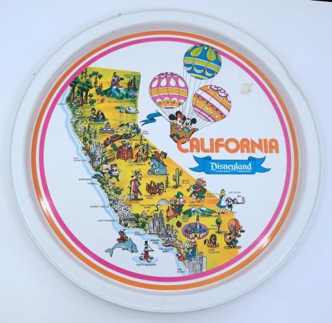 California Disneyland Souvenir Metal Serving Tray - ID: jundisneyana21319 Disneyana
