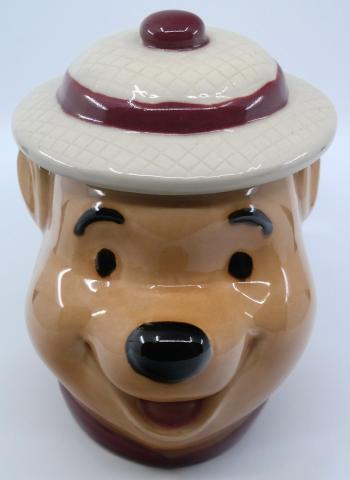Winnie the Pooh Safari Head Cookie Jar - ID: jundisneyana21320 Disneyana