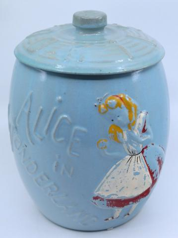 Leeds Alice in Wonderland Cookie Jar - ID: jundisneyana21328 Disneyana