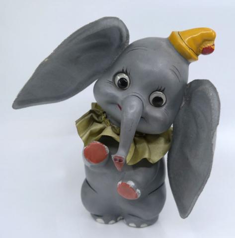 1941 Dumbo the Flying Elephant Figurine by Knickerbocker - ID: jundisneyana21336 Disneyana