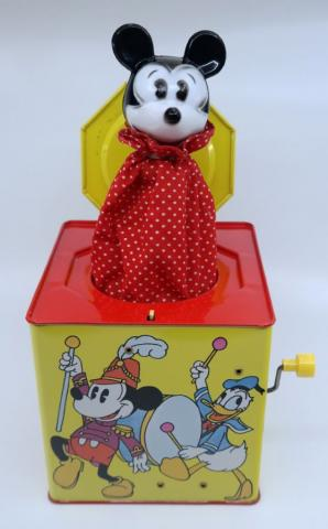 Mickey's Musical Jack-in-the-Box by Carnival Toys - ID: jundisneyana21340 Disneyana