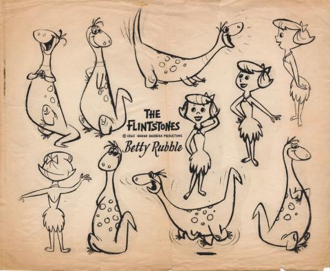 The Flintstones Photostat Model Sheet  - ID: junflintstones20218 Hanna Barbera