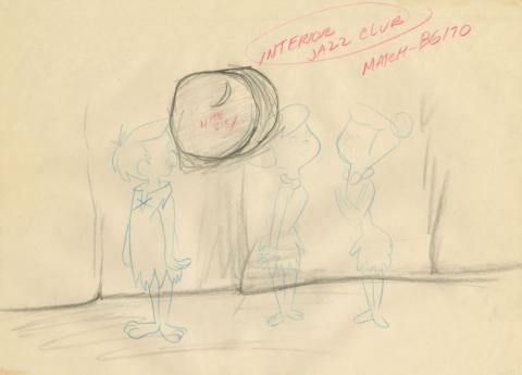 The Flintstones Background Layout Drawing - ID: junflintstones21102 Hanna Barbera